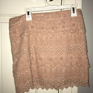 Lace pink American Eagle skirt